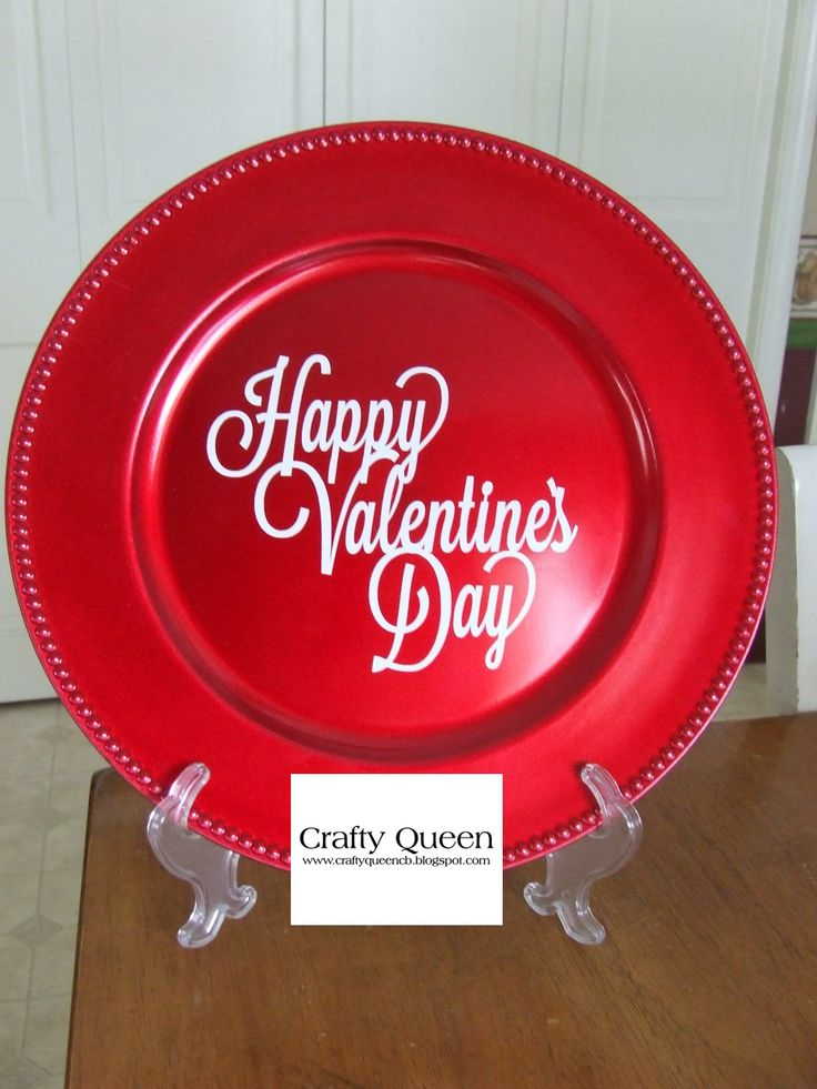 Valentine Charger plate decor