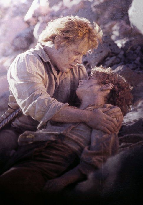 Sean Astin and Elijah Wood in The Lord of the Rings: The Return of the King
