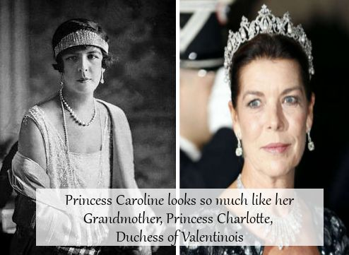 """royal-confessions: """"(Post by S) """"Princess Caroline looks so much like her Grandmother, Princess Charlotte, Duchess of Valentinois."""" """""""