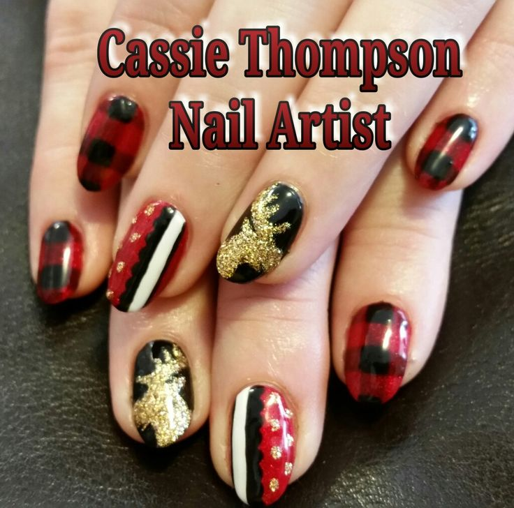 528 best 1 cassie thompson nail artist of vancouver wa images on plaid glitter moose christmas gel mani by cassie thompson nail artist of vancouver wa follow me prinsesfo Image collections