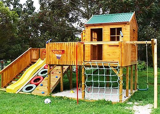 22 best cabane en bois images on Pinterest Wood cabins, Doll - Maisonnette En Bois Avec Bac A Sable