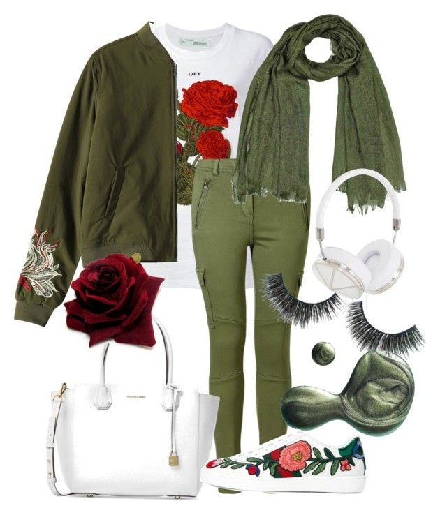 """""""The army rose"""" by hielyaamelia on Polyvore featuring Off-White, Michael Kors, Frends, Illamasqua and Gucci"""