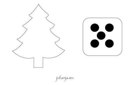 Kleikaarten kerst met dobbelsteenstructuur ernaast