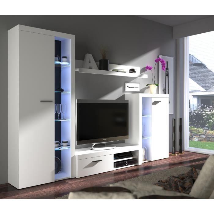 Rumba Meuble Tv Contemporain Blanc Mat L 120 Cm Homeentertainment Rumba Meubl In 2020 White Tv Cabinet Tv Unit Decor Tv Unit Furniture