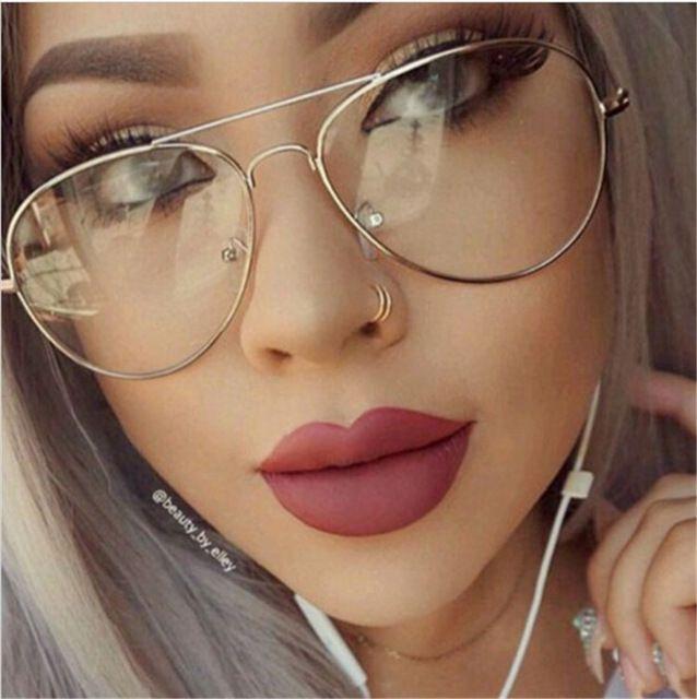 CHUN M51 Clásico Transparente Gafas de Marco de Espejo de La Vendimia gafas de Sol Mujeres de Los Hombres UV400 Óptico gafas de Aviación Transparente Contra Rayos