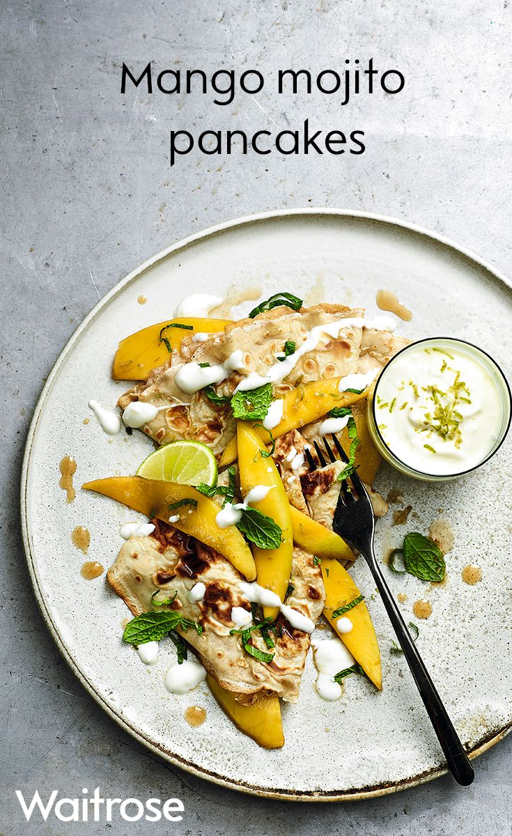 Zesty lime, mangoes and a hit of rum transforms the traditional pancake. Serve with a dollop of yogurt and the remaining lime zest. See the recipe on the Waitrose website.