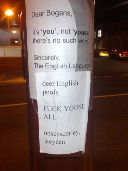 #strayacunt #stray English lesson for Strayans lol