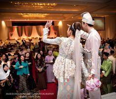 Lovely songket wedding dress