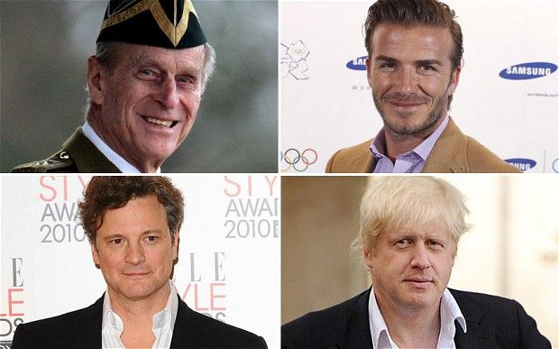 David Beckham and Boris Johnson in the Telegragh this week with Prince Philip.