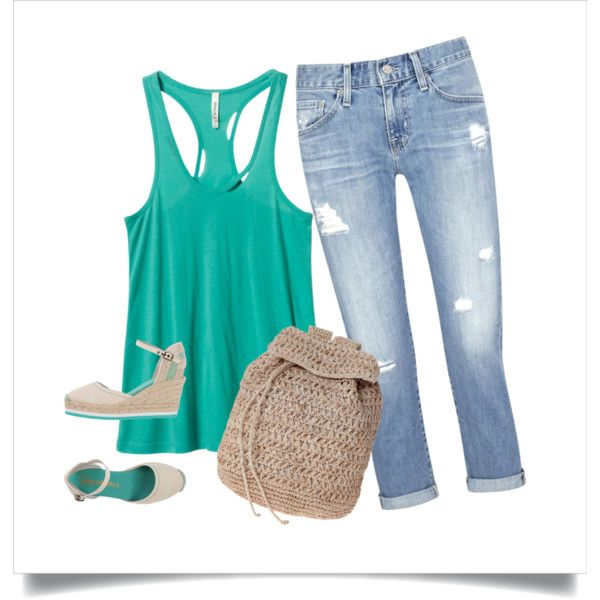 Have a nice weekend!!! by magica-despell on Polyvore featuring RVCA, AG Adriano Goldschmied, Espadrilles and Scoop