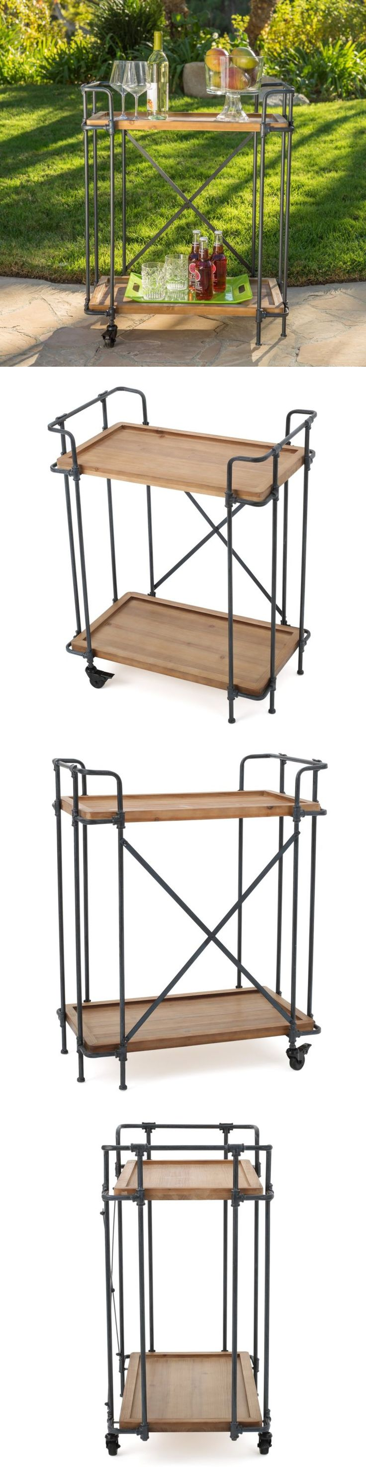 Outdoor buffet table serving cart as well century modern console table - Bar Carts And Serving Carts 183320 Bar Cart Industrial Style Rustic Iron Dorm Kitchen Furniture