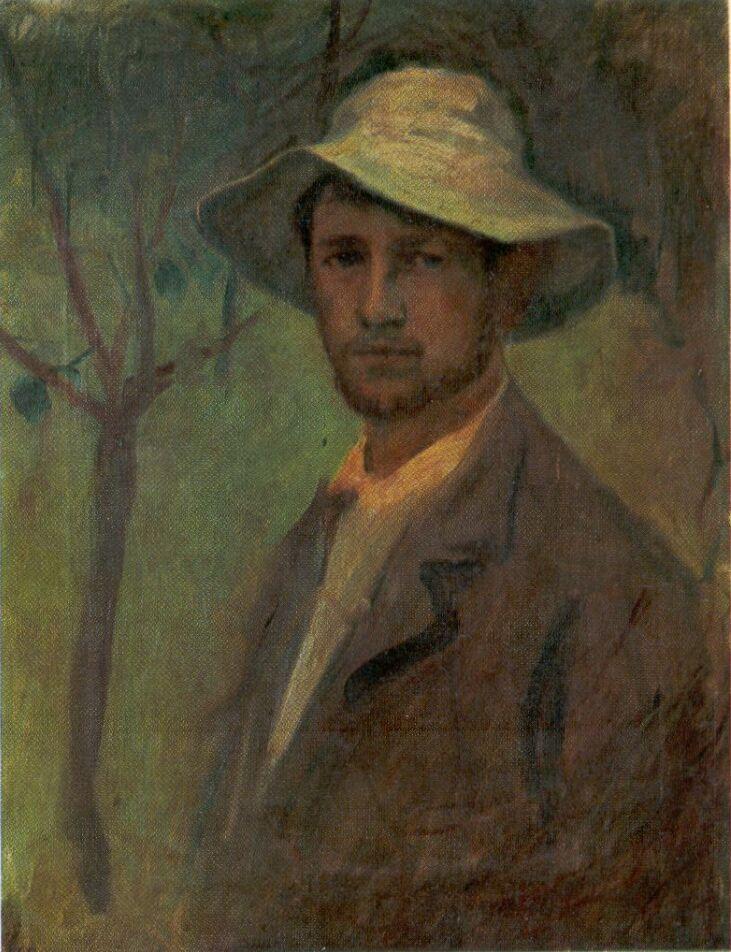 """Károly Kernstok 1910 """"Self Portrait"""""""