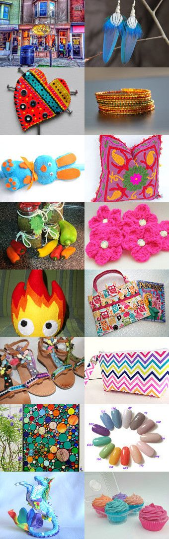 ☀Colorful☀ Summer☀ Days☀ Ahead☀ by Tina Cuva on Etsy--Pinned+with+TreasuryPin.com