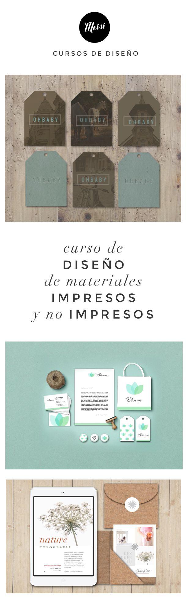 Curso de diseño de materiales impresos y no impresos. #curso #cursodiseño #cursoonline #diseñográfico #maquetación #layout #photoshop