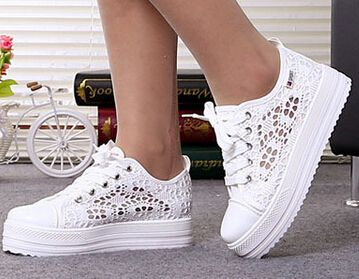 Cheap shoe box shoes, Buy Quality shoe bottle opener favor directly from China shoes spain Suppliers:                          Black white breathable mesh lacing high top hidden wedges women sneakers brand shoes 2014