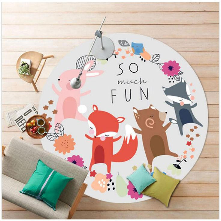 Aliexpress.com : Buy 80cm/90cm/100cm Soft Round Cartoon Carpets for Living Room Computer Chair Mat Rugs and Carpets Baby Kids Carpet from Reliable carpet brand suppliers on Nice Home Textile