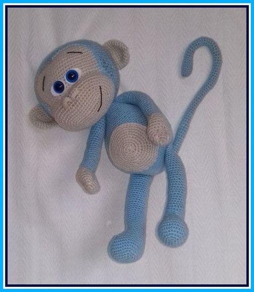 Patron de crochet/Amigurumi Pattern/Amigurumi Monkey/Mono a | Etsy | 580x505