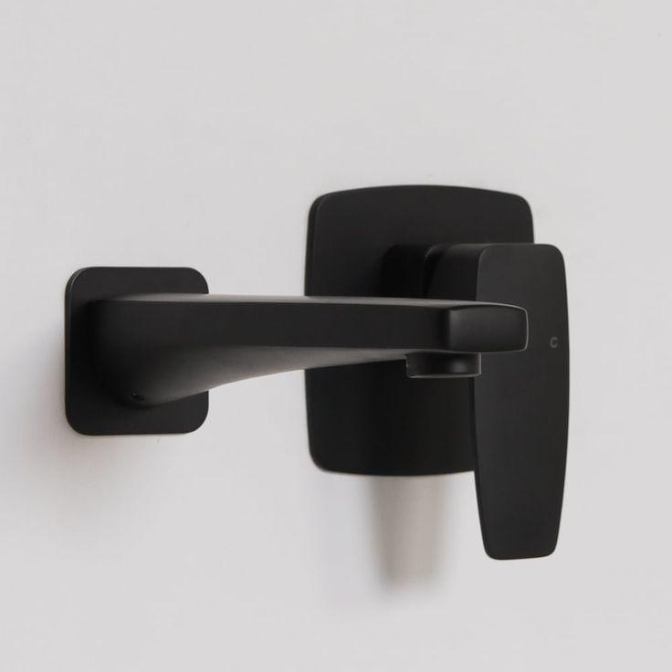 Lusso Mia Series Wall Mounted Bath Mixer Tap Valve & Spout Matte Black