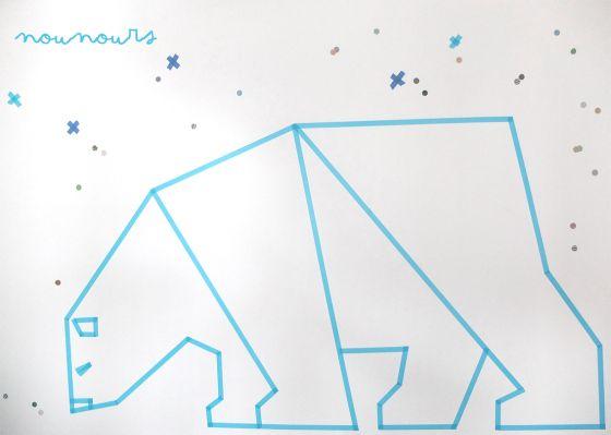Un ours polaire en masking tape (facile en plus :p)