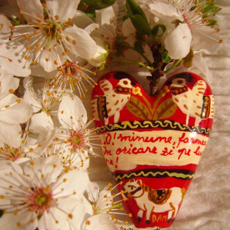 ceramic heart #folkart #ceramic #heart #mexicanheart #decoration
