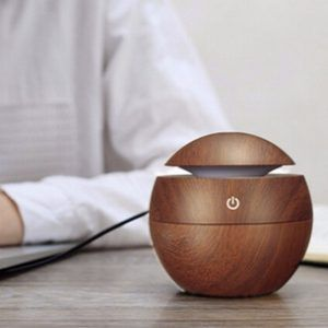 USB Wooden Ultrasonic Air Humidifier Aroma Diffuser
