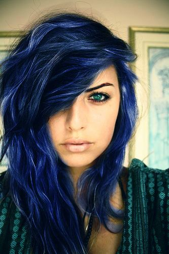 Midnight Blue Hair--I would even wear this, not permanently though. Dee