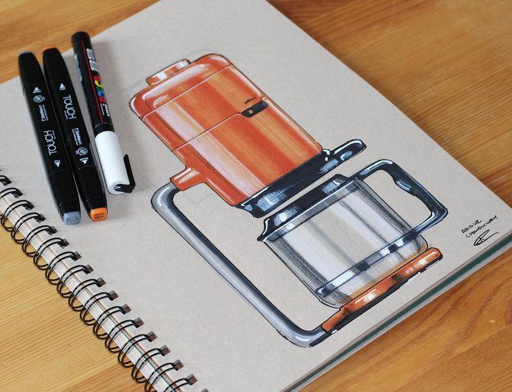 Industrial Designer (@abidurchowdhury) • #industrialdesign #id #idsketching… termo de café dibujo a color