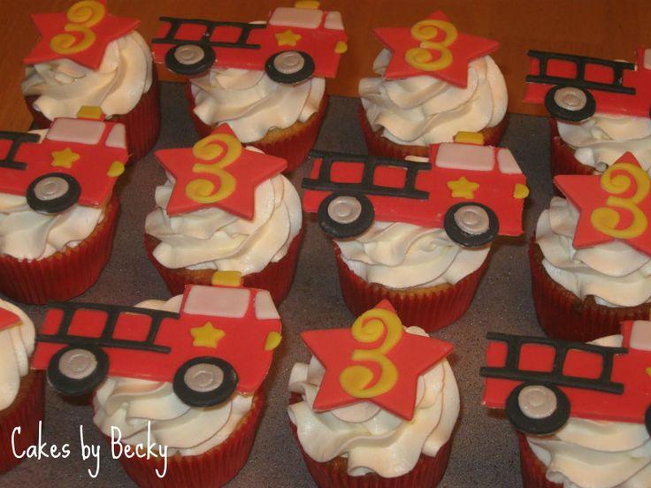 Firetruck Birthday Cupcakes!
