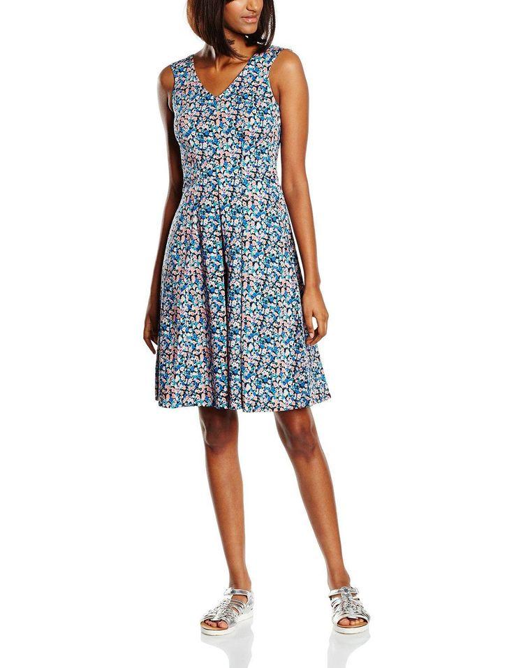 Vestido corto hipster mujer sin mangas con diseño estampado floral multicolor, ideal para esta primavera - verano.