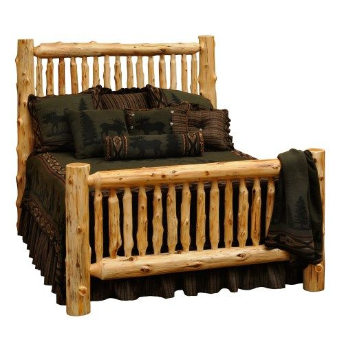 Drop By Black Forest Decor Now And Pick Up Discount Rates Close To On  Rustic Beds, For Example This Queen Size Spindle Log Bed!