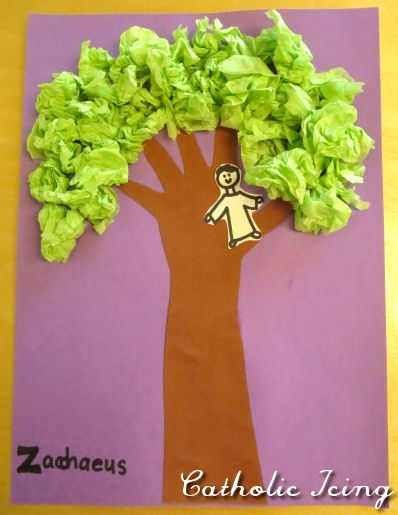 zacchaeus in a tree- bible craft for preschoolers
