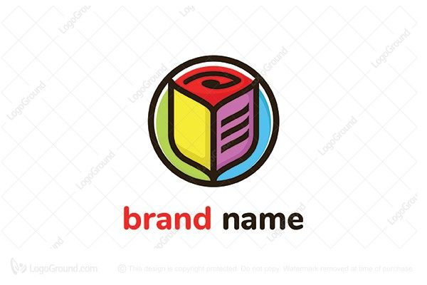 Exclusive Logo 67076 Rose Book Logo With Images Education