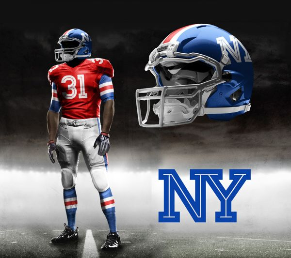 Nike NFL Pro Combat Uniform Concepts by Brandon Moore, via Behance