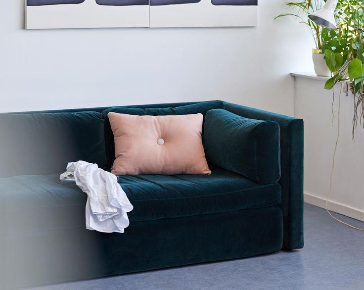 Dot cushion and Hackney sofa.
