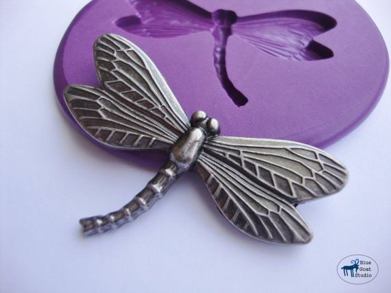 Dragonfly Mold Silicone Molds  Nature Woodland by BlueGoatStudio, $5.00