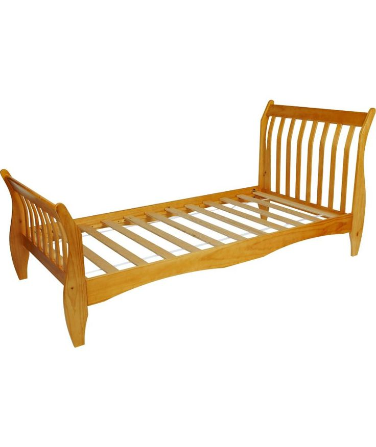 Buy harry sleigh single bed frame pine at for Divan bed frame argos
