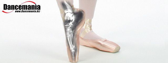 X-ray of a foot in a pointe shoe.