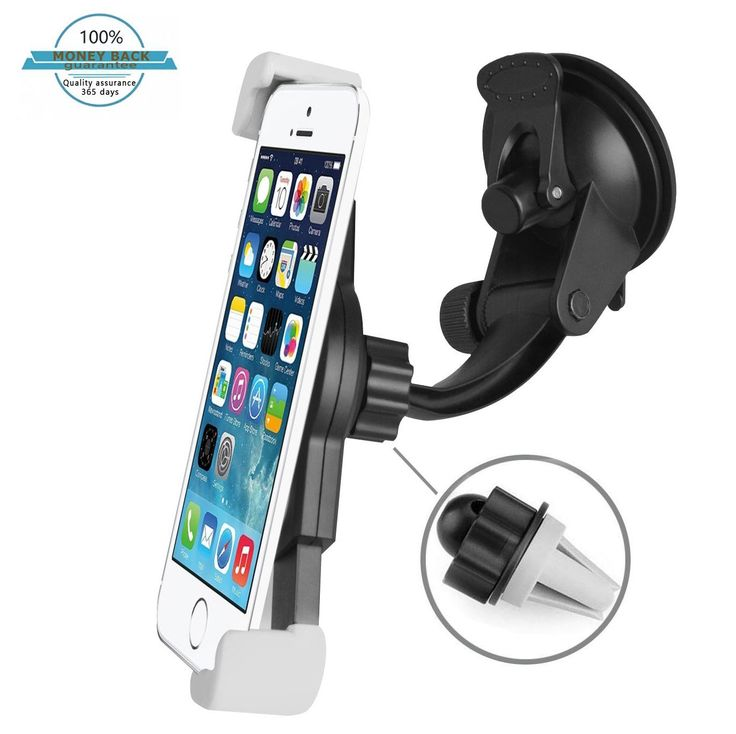 Car Phone Mount, Universal Smartphones Car Windshield Mount Air Vent Car Phone Holder Cradle For iPhone 7 Plus 6s Plus SE Samsung Galaxy S7 Edge S6 Edge Note 5 and More