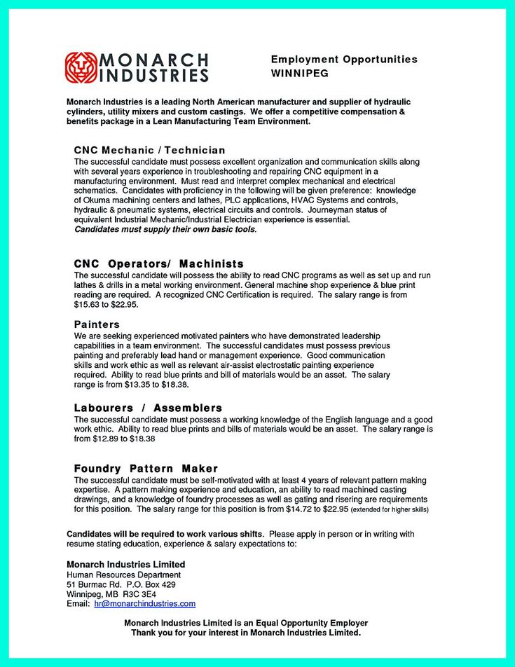 awesome writing your qualifications in cnc machinist resume a must - Machinist Resume Template