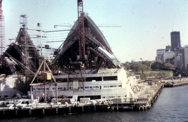 Sydney Opera House under construction 1965