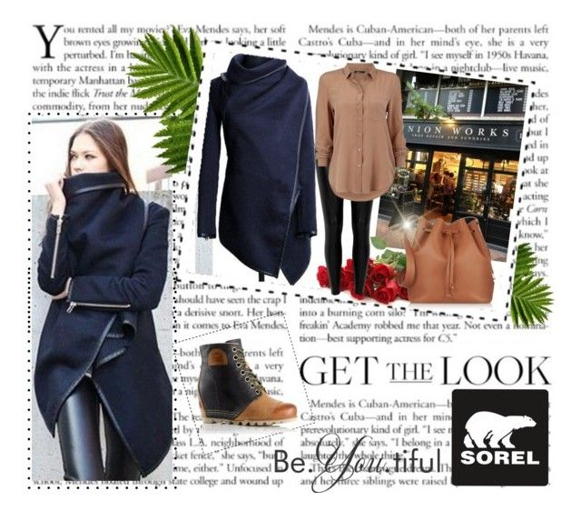 """""""The 1964 Premium Wedge from SOREL: Contest Entry"""" by lovee39 ❤ liked on Polyvore featuring SOREL, River Island, Sophie Hulme and sorelstyle"""