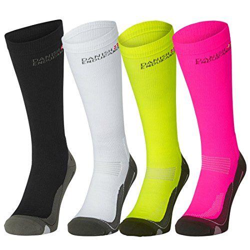 Compression Socks by DANISH ENDURANCE // (US Women 11-13 // US Men 9.5-12.5 Pink/Grey)