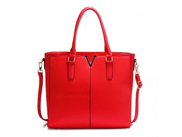 Červená kabelka shopper Aggie AG00420