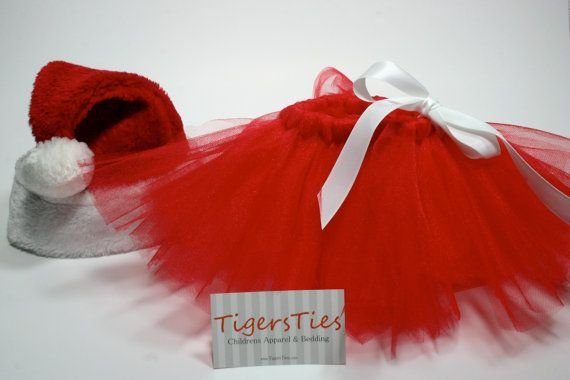 Cute Santa Costume for Christmas! Red Baby Tutu @Etsy #cute #christmasbaby #santa #costume