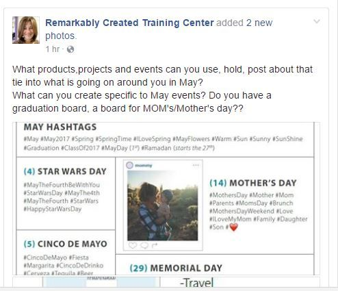 Stampin' UP! demonstrator business tips and inspiration daily on my training center facebook page. Come follow me.