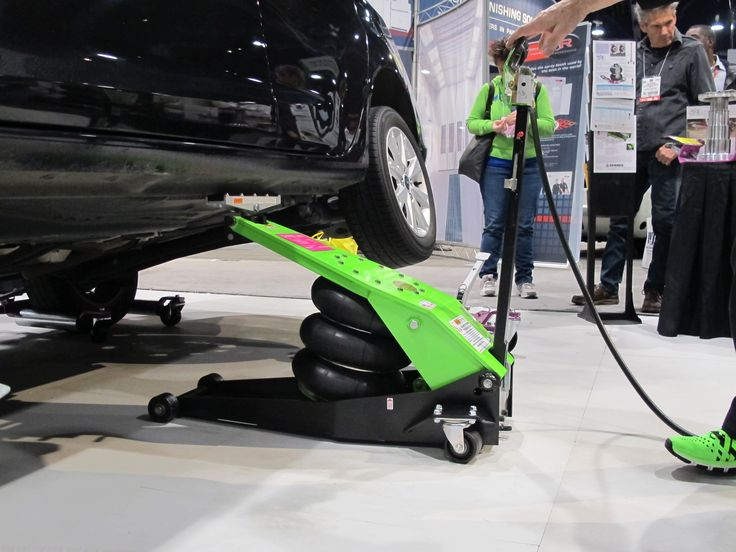 Zendexs Airbag Powered Floor Jack Was On Display At SEMA 2013 Easily Lifting This