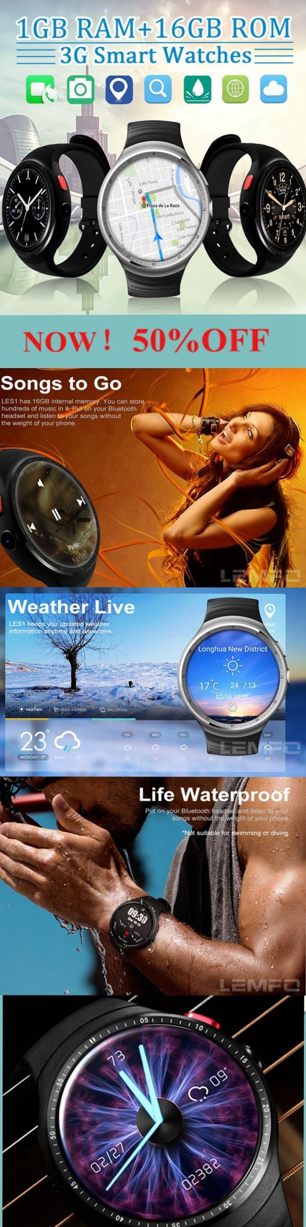 [Newchic Online Shopping] 50%OFF LEMFO Multi-functional Smart Watch | Bluetooth Watch | GPS Watch | WIFI Watch | Android IOS Watch | Watch Phone