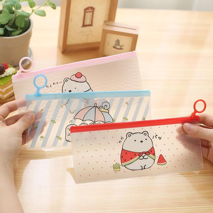 Kawaii Cat Clear Pencil Case – Misty&Meow