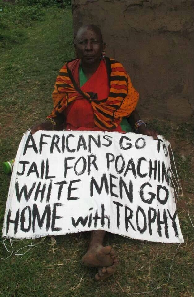 """""""Africans go to jail for poaching, white men go home with trophy"""""""