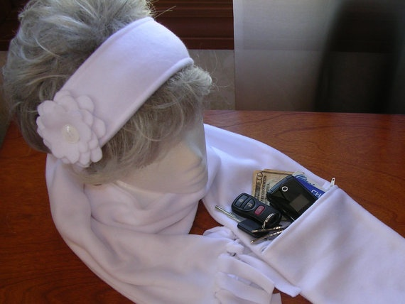 Zipper Pocket Fleece Scarf and Matching Head Wrap with Button Closure: Gift, Fleece Scarf Diy, Fleece Scarfs, Craft Ideas, Crafty Ideas